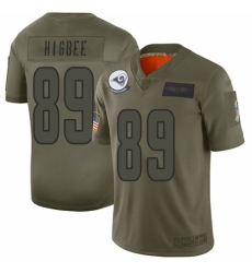 Men's Los Angeles Rams #89 Tyler Higbee Limited Camo 2019 Salute to Service Football Jersey