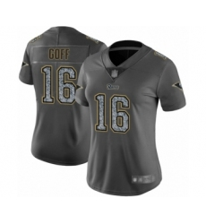 Women's Los Angeles Rams #16 Jared Goff Limited Gray Static Fashion Football Jersey