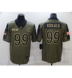 Men's Los Angeles Rams #99 Aaron Donald Nike Olive 2021 Salute To Service Limited Player Jersey