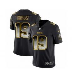 Men Minnesota Vikings #19 Adam Thielen Black Smoke Fashion Limited Jersey
