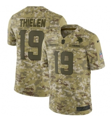 Youth Nike Minnesota Vikings #19 Adam Thielen Limited Camo 2018 Salute to Service NFL Jersey