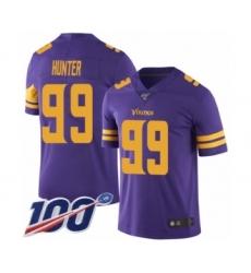 Men's Minnesota Vikings #99 Danielle Hunter Limited Purple Rush Vapor Untouchable 100th Season Football Jersey