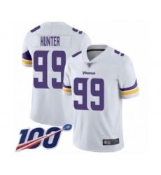 Men's Minnesota Vikings #99 Danielle Hunter White Vapor Untouchable Limited Player 100th Season Football Jersey