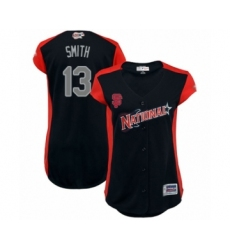 Women's San Francisco Giants #13 Will Smith Authentic Navy Blue National League 2019 Baseball All-Star Jersey