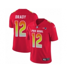 Youth Nike New England Patriots #12 Tom Brady Limited Red AFC 2019 Pro Bowl NFL Jersey