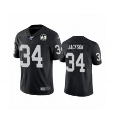 Youth Oakland Raiders #34 Bo Jackson Black 60th Anniversary Vapor Untouchable Limited Player 100th Season Football Jersey