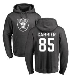 NFL Nike Oakland Raiders #85 Derek Carrier Ash One Color Pullover Hoodie