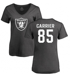 NFL Women's Nike Oakland Raiders #85 Derek Carrier Ash One Color T-Shirt