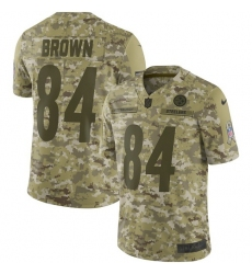 Men's Nike Pittsburgh Steelers #84 Antonio Brown Limited Camo 2018 Salute to Service NFL Jersey
