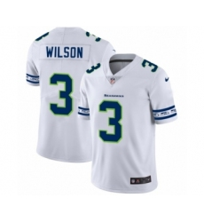 Men's Seattle Seahawks #3 Russell Wilson White Team Logo Cool Edition Jersey
