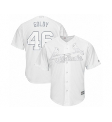 Men's St. Louis Cardinals #46 Paul Goldschmidt  Goldy Authentic White 2019 Players Weekend Baseball Jersey