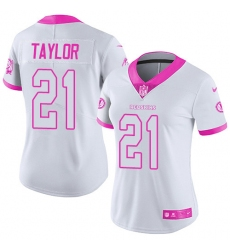 Women's Nike Washington Redskins #21 Sean Taylor Limited White/Pink Rush Fashion NFL Jersey