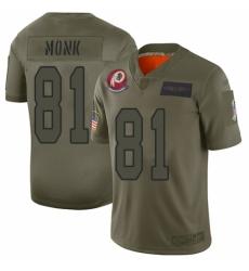 Men's Washington Redskins #81 Art Monk Limited Camo 2019 Salute to Service Football Jersey