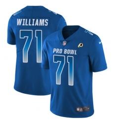Youth Nike Washington Redskins #71 Brandon Scherff Limited Royal Blue 2018 Pro Bowl NFL Jersey