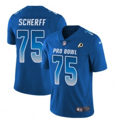 Youth Nike Washington Redskins #75 Brandon Scherff Limited Royal Blue 2018 Pro Bowl NFL Jersey