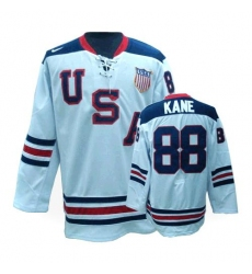 Men's Nike Team USA #88 Patrick Kane Premier White 1960 Throwback Olympic Hockey Jersey