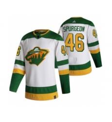 Men's Minnesota Wild #46 Jared Spurgeon White 2020-21 Reverse Retro Alternate Hockey Jersey