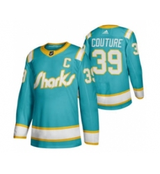 Men's San Jose Sharks #39 Logan Couture 2020 Throwback Authentic Player Hockey Jersey