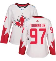 Women's Adidas Team Canada #97 Joe Thornton Authentic White Home 2016 World Cup Hockey Jersey