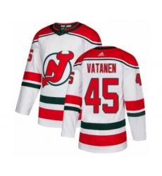 Men's Adidas New Jersey Devils #45 Sami Vatanen Authentic White Alternate NHL Jersey