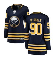 Women's Buffalo Sabres #90 Ryan O'Reilly Fanatics Branded Navy Blue Home Breakaway NHL Jersey