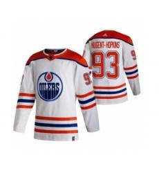 Men's Edmonton Oilers #93 Ryan Nugent-Hopkins White 2020-21 Reverse Retro Alternate Hockey Jersey