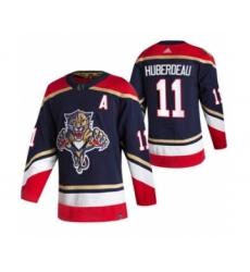 Men's Florida Panthers #11 Jonathan Huberdeau Black 2020-21 Reverse Retro Alternate Hockey Jersey