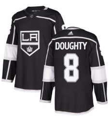 Men's Adidas Los Angeles Kings #8 Drew Doughty Authentic Black Home NHL Jersey