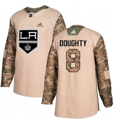Men's Adidas Los Angeles Kings #8 Drew Doughty Authentic Camo Veterans Day Practice NHL Jersey