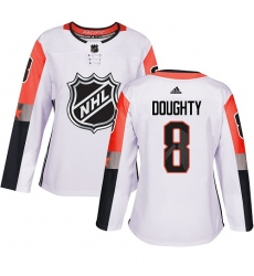 Women's Adidas Los Angeles Kings #8 Drew Doughty Authentic White 2018 All-Star Pacific Division NHL Jersey