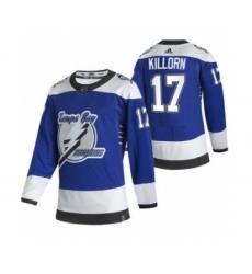 Men's Tampa Bay Lightning #17 Alex Killorn Blue 2020-21 Reverse Retro Alternate Hockey Jersey