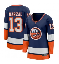 Women's New York Islanders #13 Mathew Barzal Fanatics Branded Orange 2020-21 Special Edition Breakaway Player Jersey