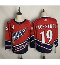 Men's Washington Capitals #19 Nicklas Backstrom Red Authentic Classic Stitched Jersey