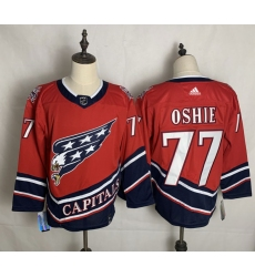 Men's Washington Capitals #77 T.J. Oshie Red Authentic Classic Stitched Jersey