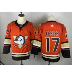 Men's Adidas Anaheim Ducks #17 Ryan Kesler Orange Authentic Teal Third Jersey