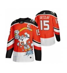 Men's Anaheim Ducks #15 Ryan Getzlaf Red 2020-21 Reverse Retro Alternate Hockey Jersey