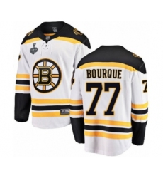 Men's Boston Bruins #77 Ray Bourque Authentic White Away Fanatics Branded Breakaway 2019 Stanley Cup Final Bound Hockey Jersey