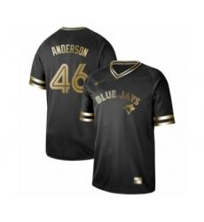 Men's Toronto Blue Jays #46 Brett Anderson Authentic Black Gold Fashion Baseball Jersey