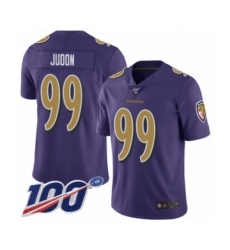 Men's Baltimore Ravens #99 Matt Judon Limited Purple Rush Vapor Untouchable 100th Season Football Jersey