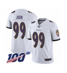 Men's Baltimore Ravens #99 Matt Judon White Vapor Untouchable Limited Player 100th Season Football Jersey