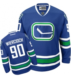 Women's Reebok Vancouver Canucks #90 Patrick Wiercioch Authentic Royal Blue Third NHL Jersey
