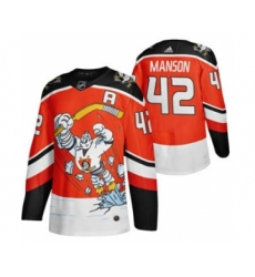 Men's Anaheim Ducks #42 Josh Manson Red 2020-21 Reverse Retro Alternate Hockey Jersey