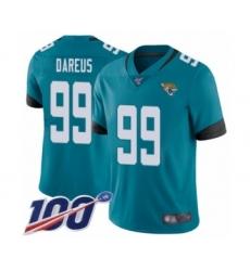 Men's Jacksonville Jaguars #99 Marcell Dareus Teal Green Alternate Vapor Untouchable Limited Player 100th Season Football Jersey