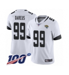 Men's Jacksonville Jaguars #99 Marcell Dareus White Vapor Untouchable Limited Player 100th Season Football Jersey