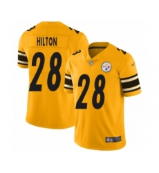 Men's Pittsburgh Steelers #28 Mike Hilton Limited Gold Inverted Legend Football Jersey