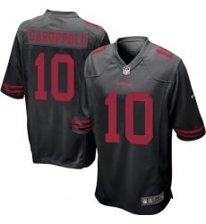 Men's Nike San Francisco 49ers #10 Jimmy Garoppolo Game Black NFL Jersey