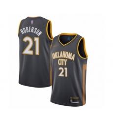 Men's Oklahoma City Thunder #21 Andre Roberson Swingman Charcoal Basketball Jersey - 2019 20 City Edition