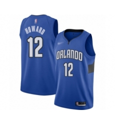 Men's Orlando Magic #12 Dwight Howard Authentic Blue Finished Basketball Jersey - Statement Edition