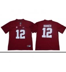 Crimson Tide #12 Joe Namath Red Limited Stitched NCAA Jersey