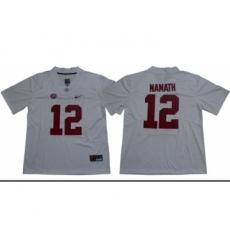 Crimson Tide #12 Joe Namath White Limited Stitched NCAA Jersey
